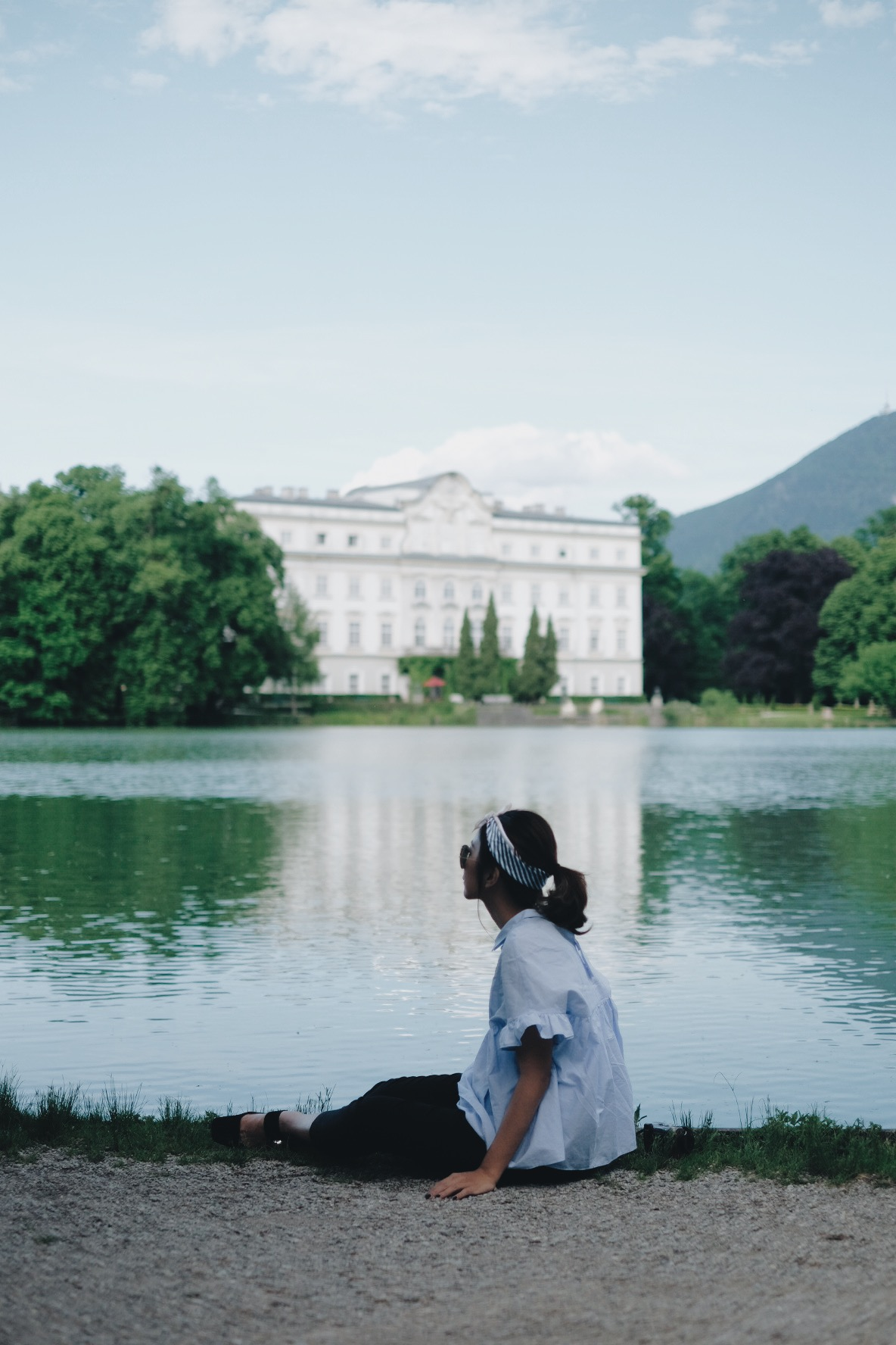 A view by the lake in Vienna, Austria.