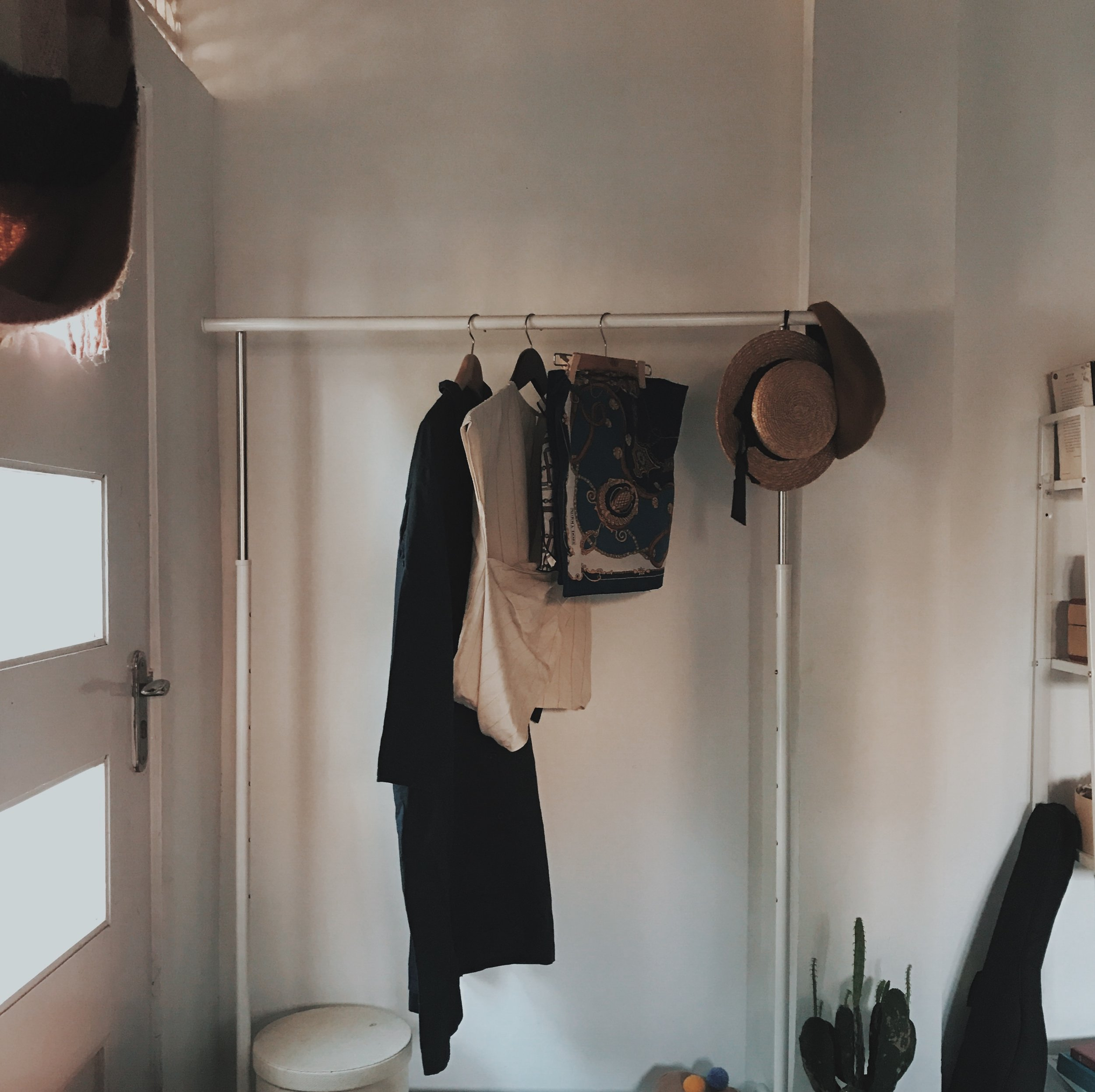one of the thing that took me a week to finish: re-arranging my closet.