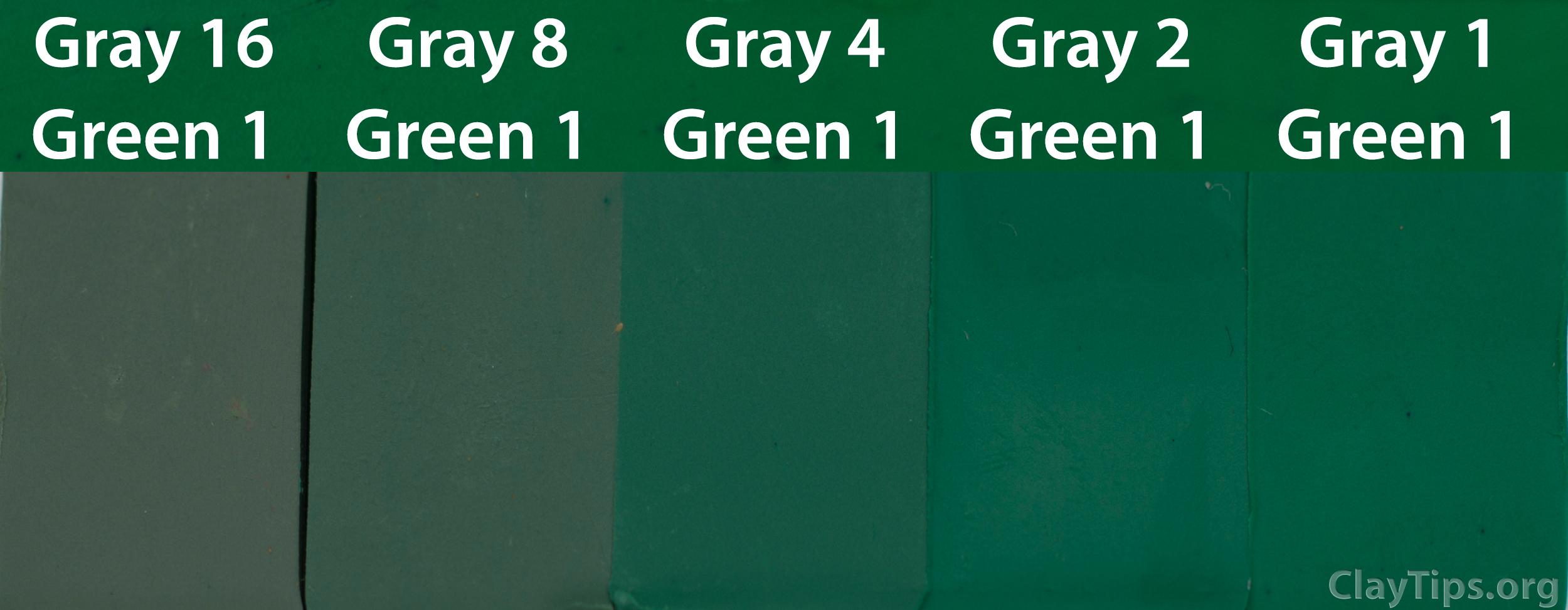 Green and Grey Plasticine