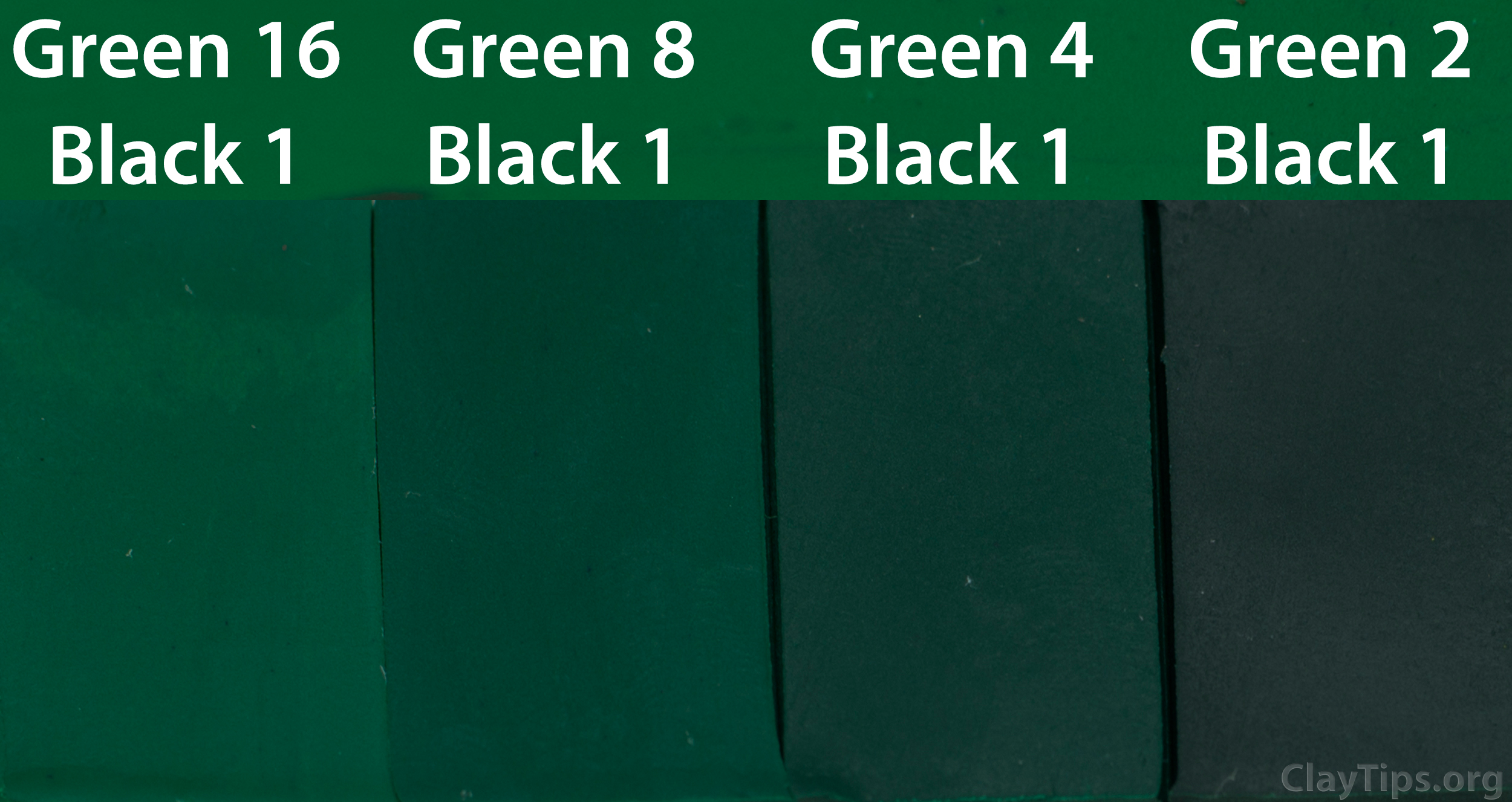 Green and Black Plasticine