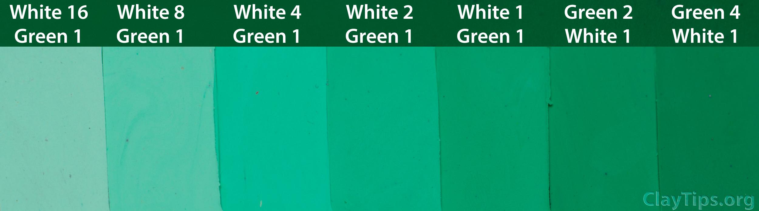 Green and White Plasticine