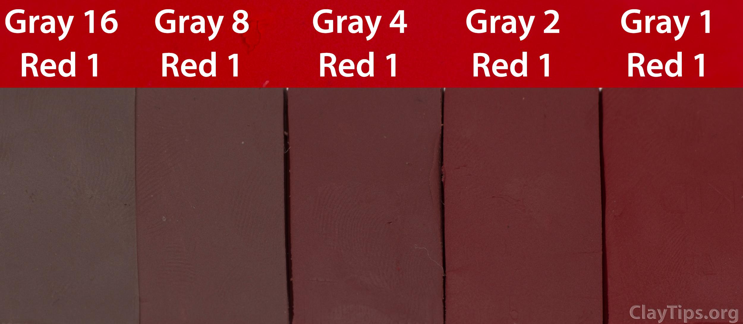 Grey and Red Plasticine