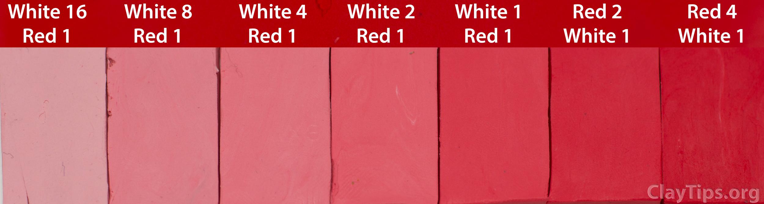 Red and White Plasticine