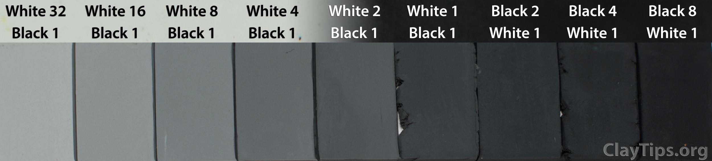 White and Gray Plasticine