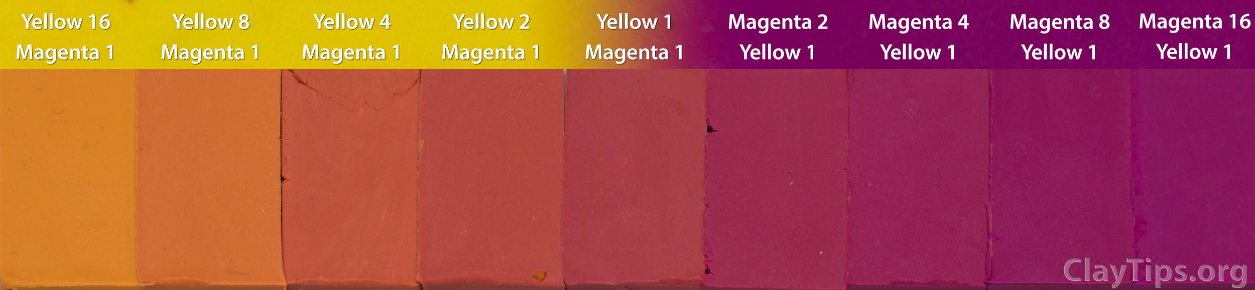 Yellow and Magenta Plasticine