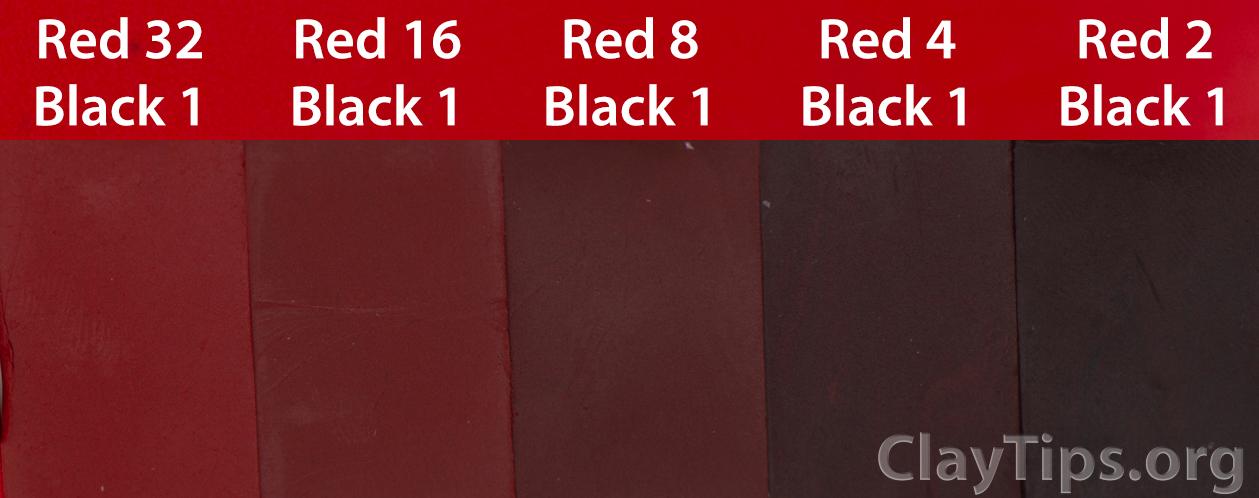 Red and Black Plasticine