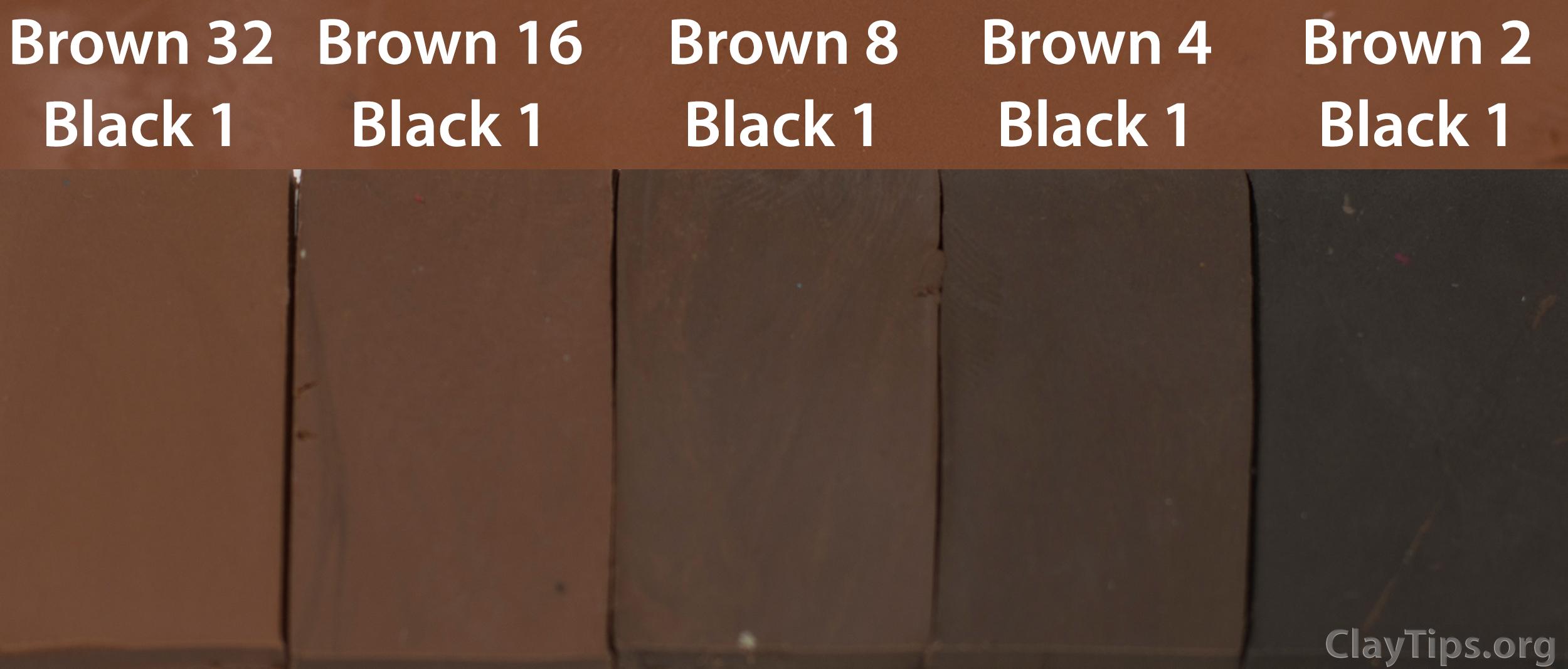 Brown and Black Plasticine