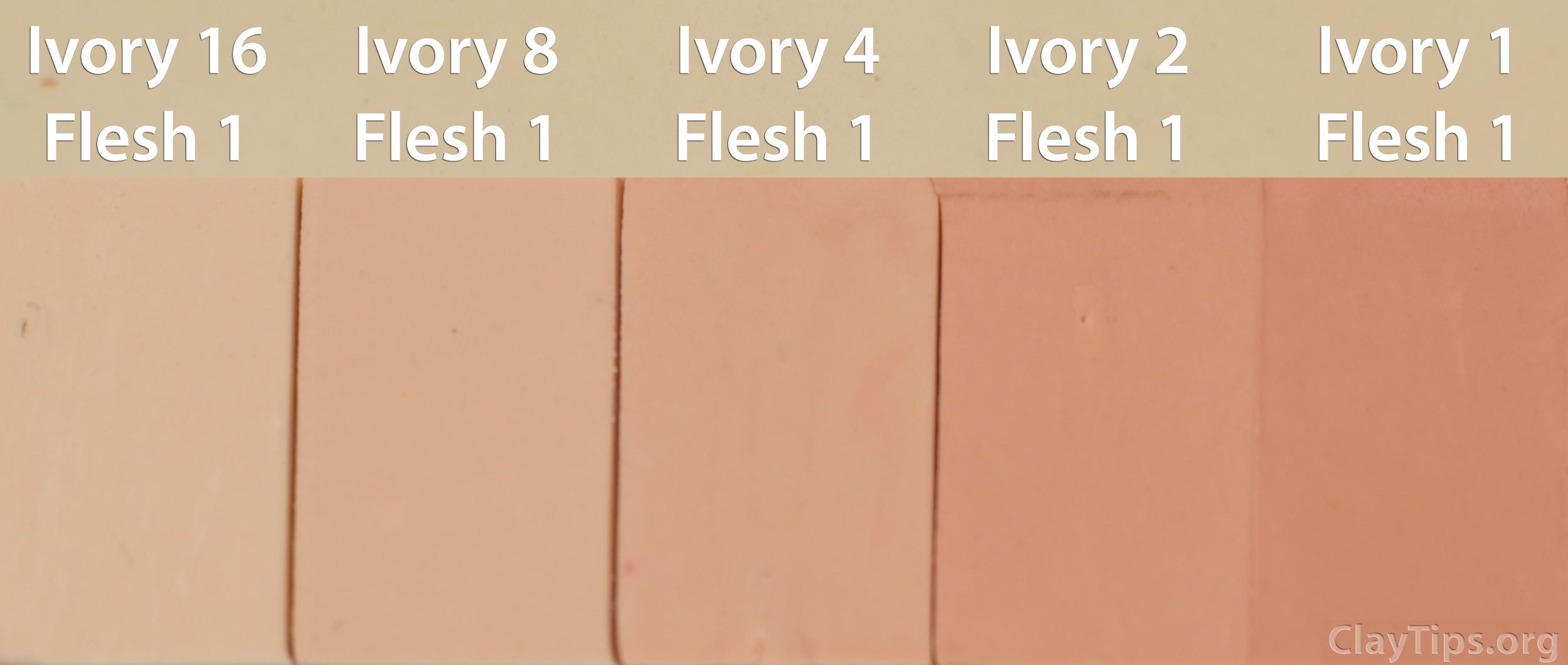 Ivory and Flesh Plasticine
