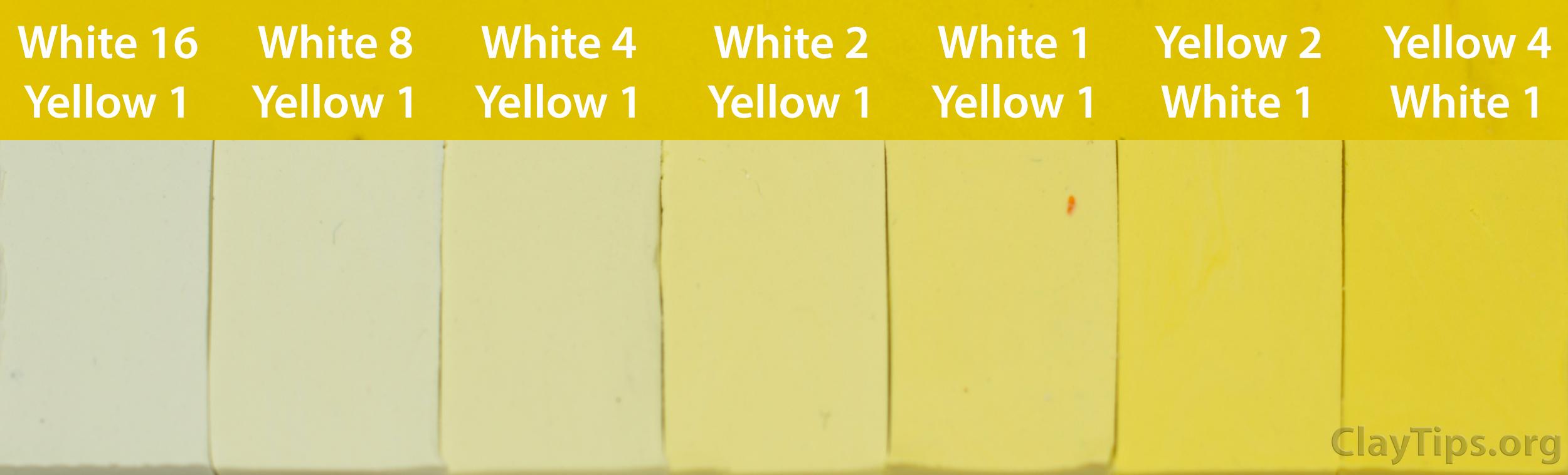 Yellow and White Plasticine