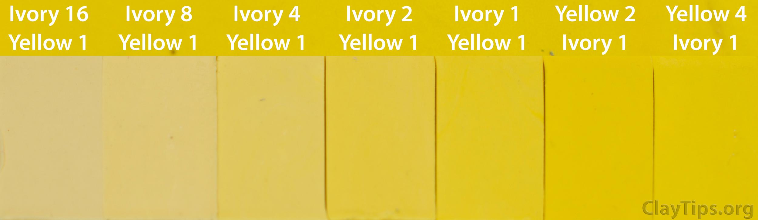 Yellow and Ivory Plasticine