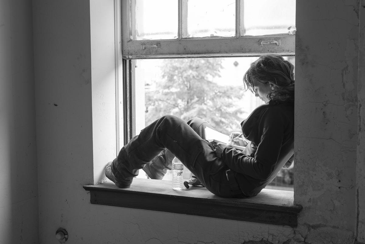 "Lisa Mueller-Trede, artist of ""Crossed Situation""."