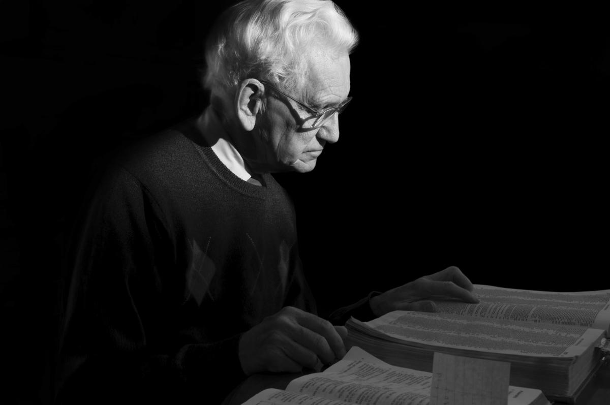 Grandpa Reading the Bible