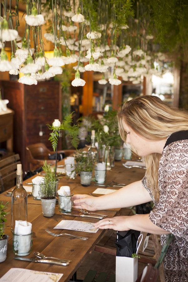overheard greenery for SOURCED. brunch in Laguna Beach