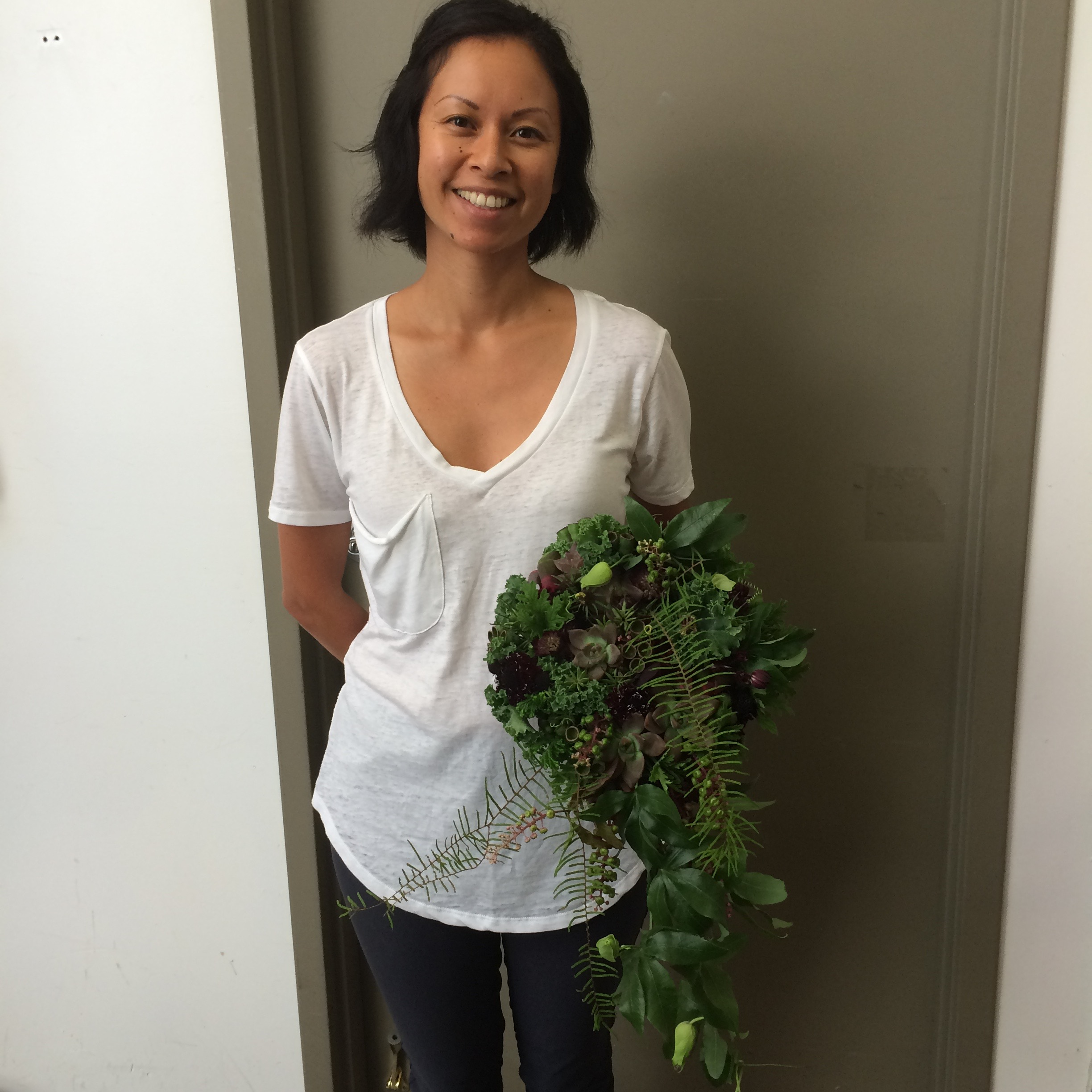 My woodland botanical bouquet from the workshop