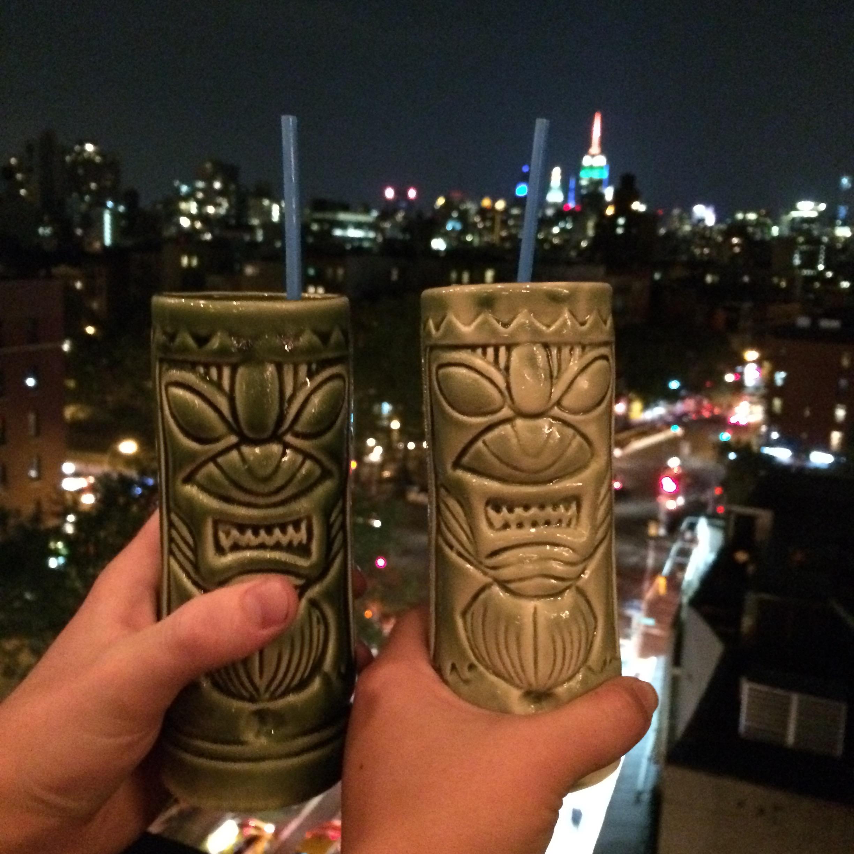 Tiki drinks and skylines - I <3 NY!