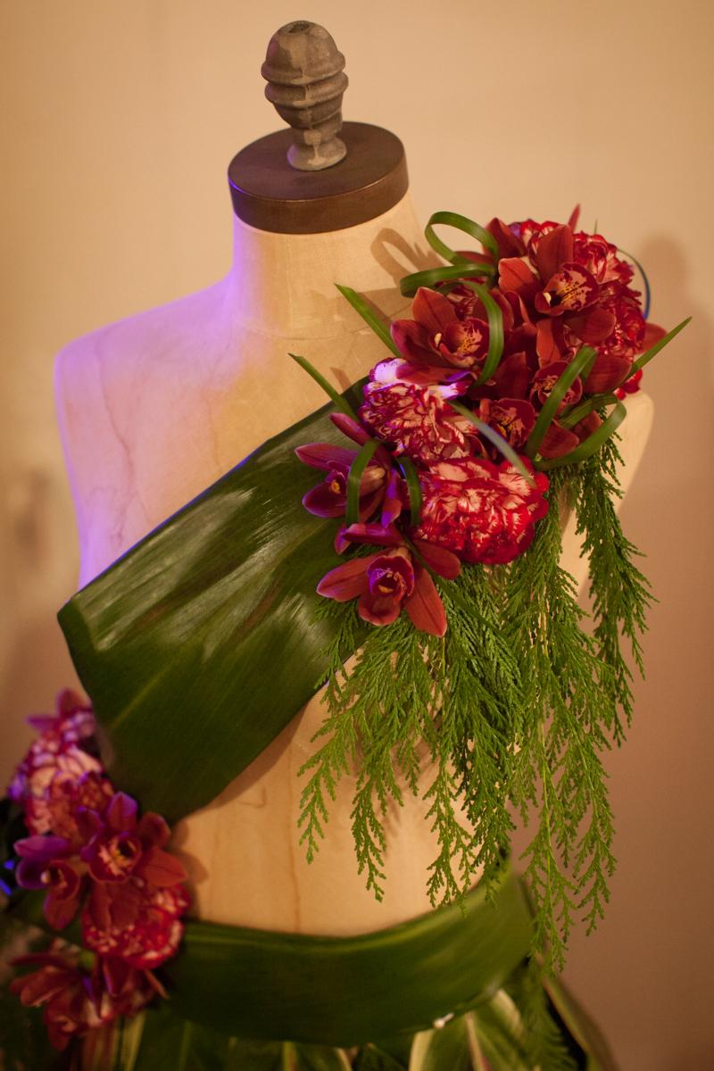 Tropical Dress Form Orchids by Floral Fete