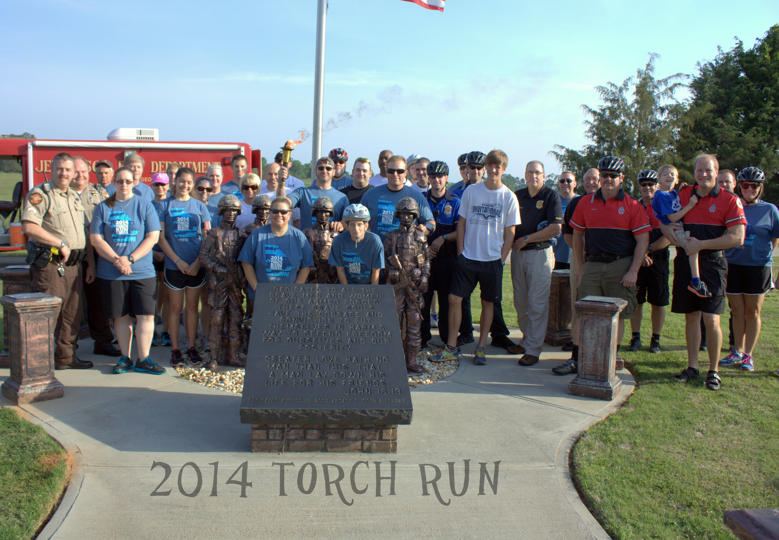 Special Olympic torch run.