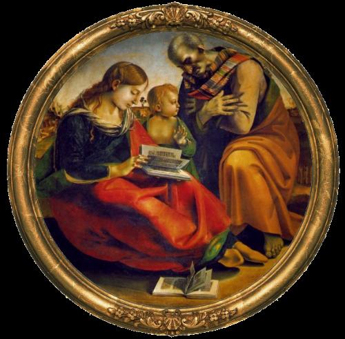 Luca Signorelli. The Holy Family . 1490,Oil on wood,Galleria degli Uffizi, Florence.