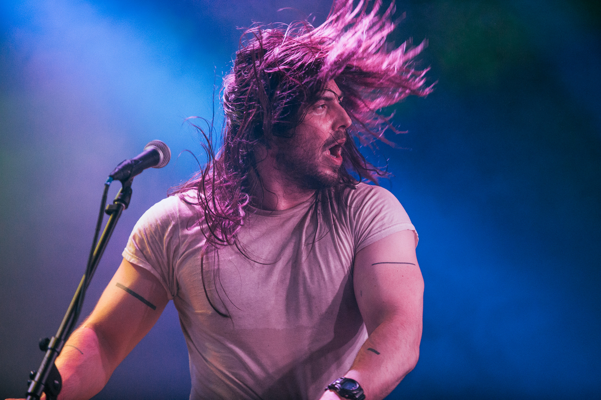 Andrew W.K. performs at Saturn Birmingham in Birmingham, Alabama on September 15th, 2015.   (Photo by David A. Smith/DSmithScenes)