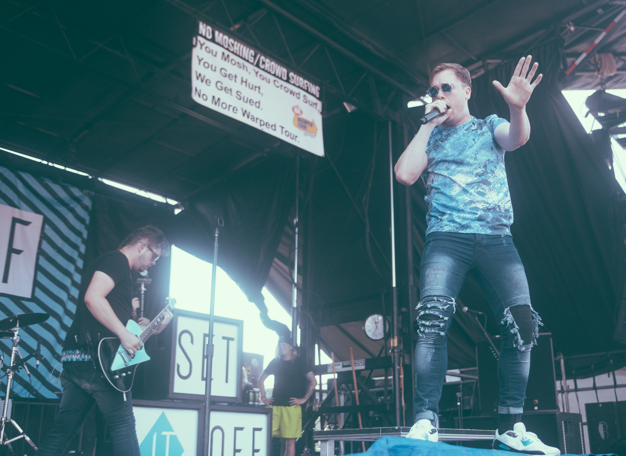 Set It Off performs at the Vans Warped Tour in Atlanta, Georgia on June 30th, 2016.   (Photo by David A. Smith/DSmithScenes)