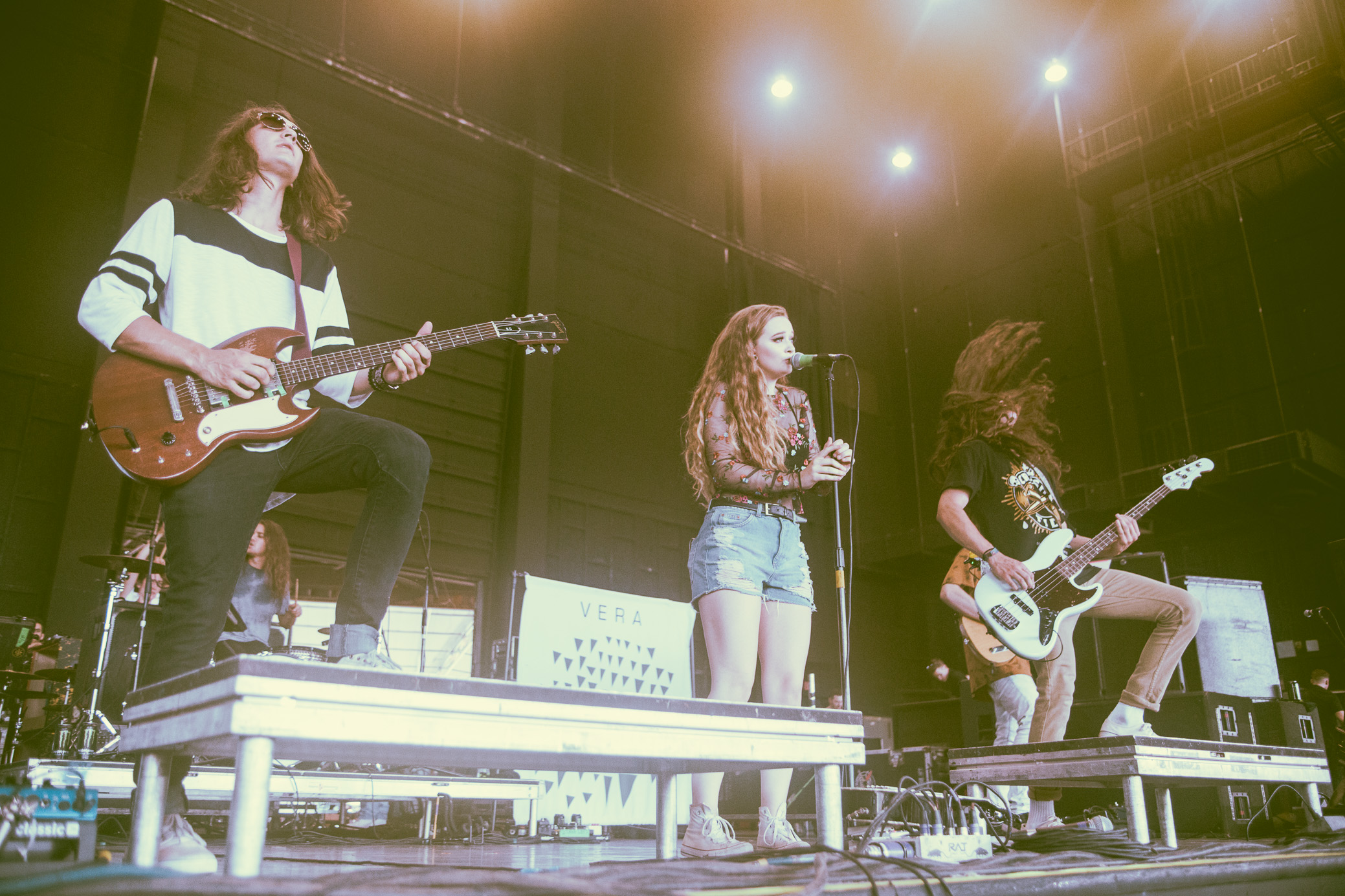 Jule Vera performs in concert at the Vans Warped Tour in Atlanta, Georgia on June 29th, 2017. (Photo by David A. Smith/DSmithScenes)