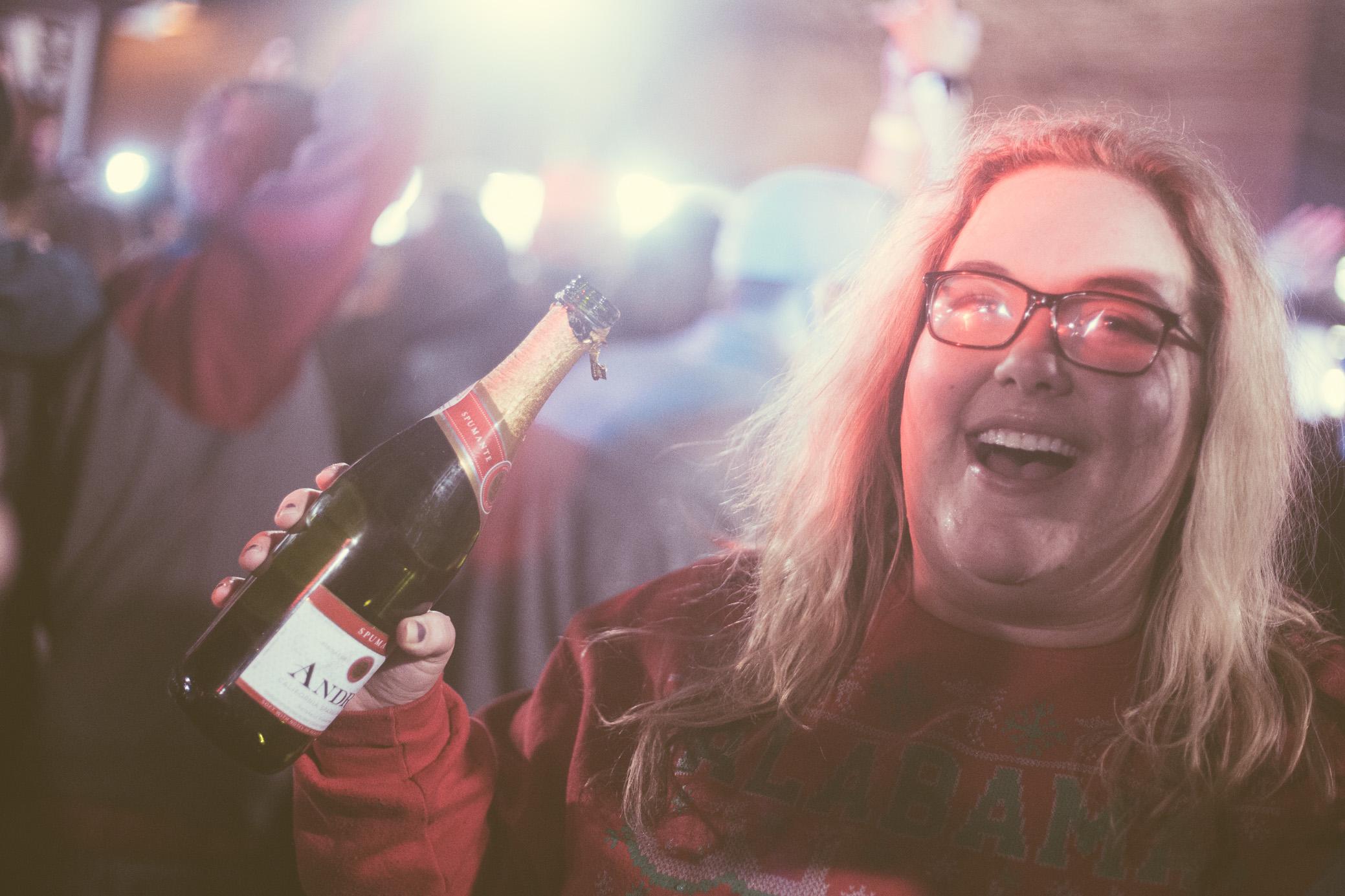 The Strip in Tuscaloosa, Alabama celebrates the University of Alabama's football National Championship win on January 8th, 2018. (Photo by David A. Smith/DSmithScenes)