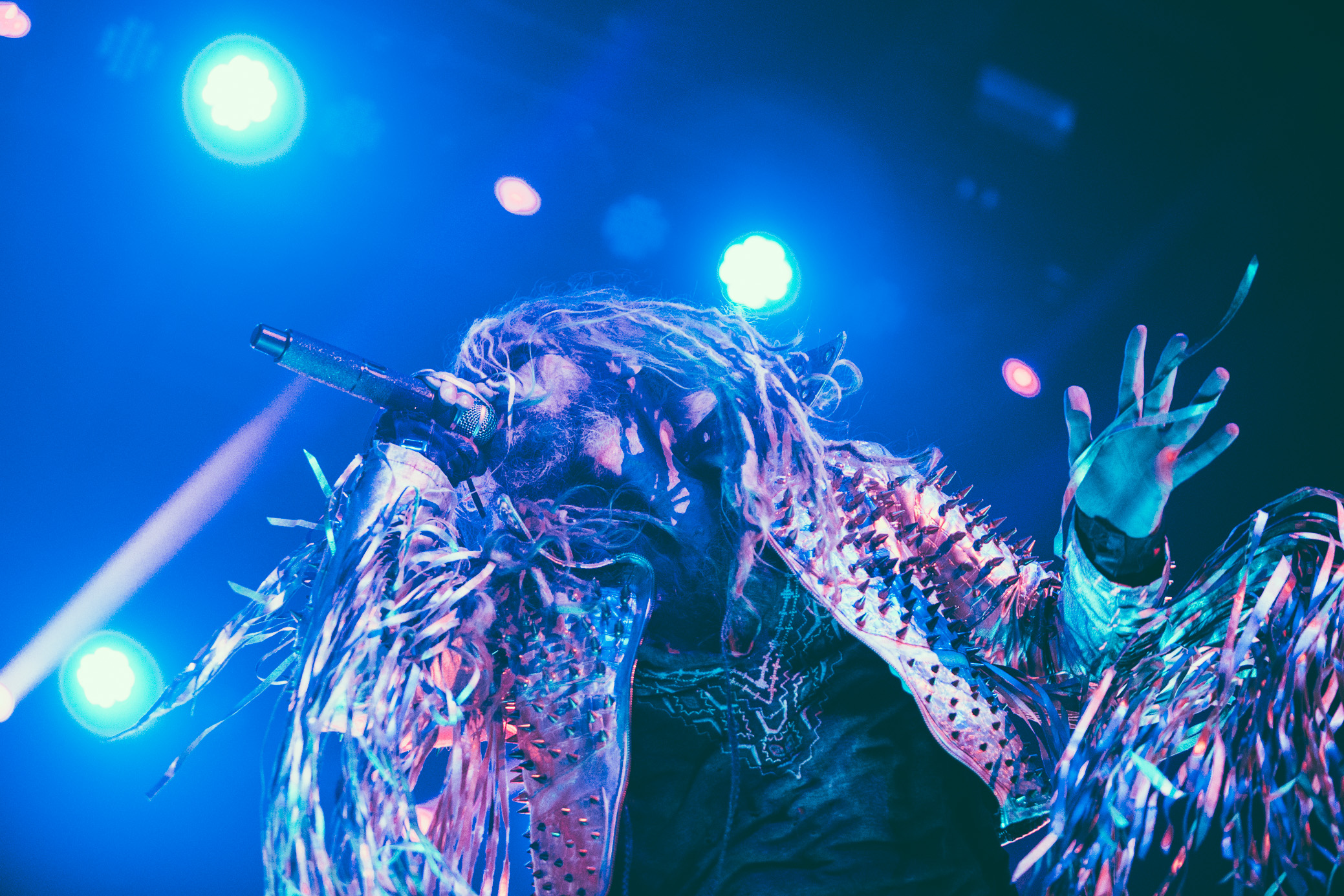 Rob Zombie performs in concert at the Coca-Cola Roxy in Atlanta, Georgia on October 3rd, 2017. (Photo by David A. Smith/DSmithScenes)