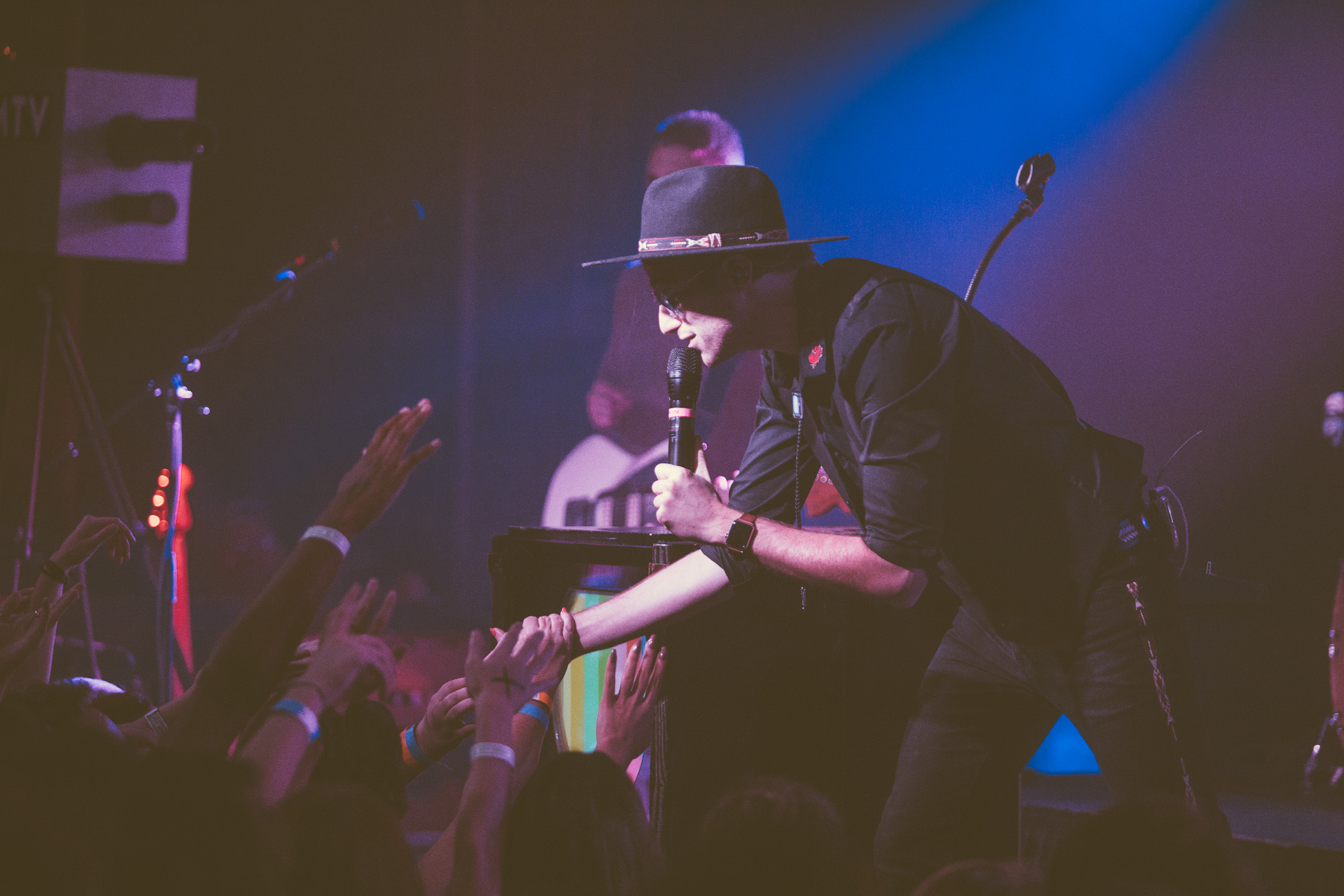 A/J Jackson of Saint Motel performs in concert at Saturn Birmingham in Birmingham, Alabama on November 7th, 2017. (Photo by David A. Smith/DSmithScenes)