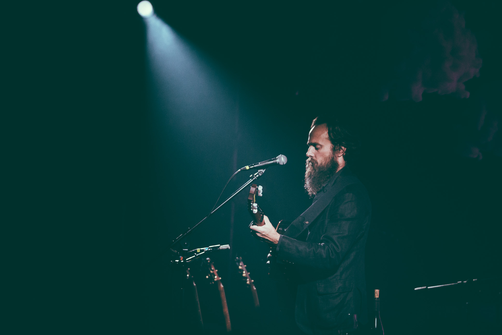 Sam Beam of Iron & Wine performs in concert at Saturn Birmingham in Birmingham, Alabama on August 29th, 2017. (Photo by David A. Smith/DSmithScenes)