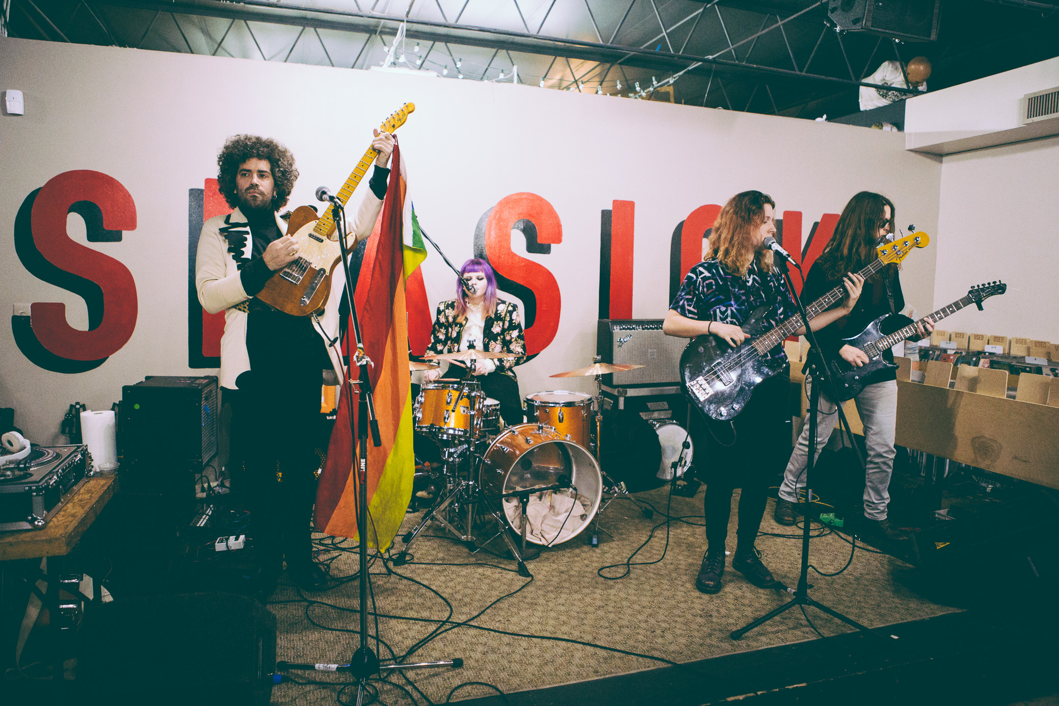 The Old Paints perform in concert at Seasick Records in Birmingham, Alabama on March 4th, 2018. (Photo by David A. Smith/DSmithScenes)