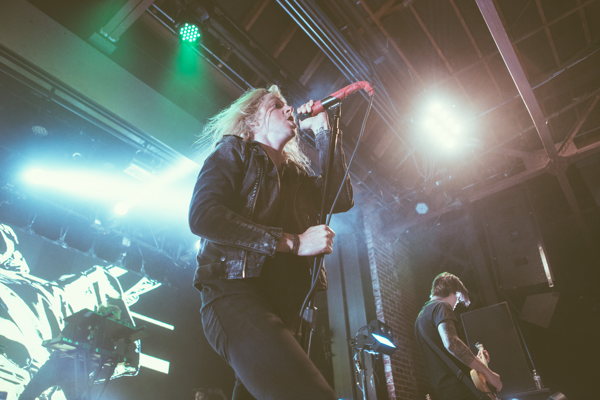 Underoath performs in concert at Iron City in Birmingham, Alabama on April 30th, 2018. (Photo by David A. Smith/DSmithScenes)