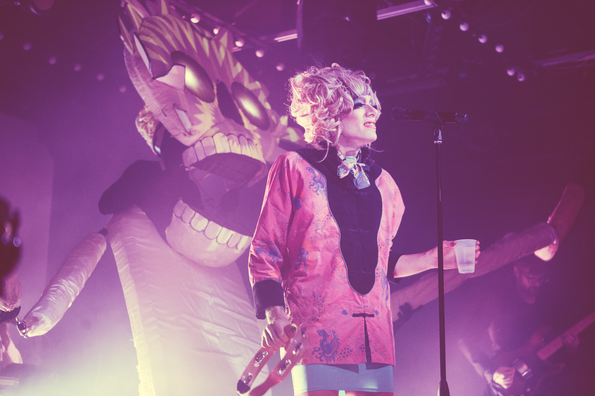 Kevin Barnes of Of Montreal performs in concert at Saturn Birmingham in Birmingham, Alabama on May 13th, 2018. (Photo by David A. Smith/DSmithScenes)