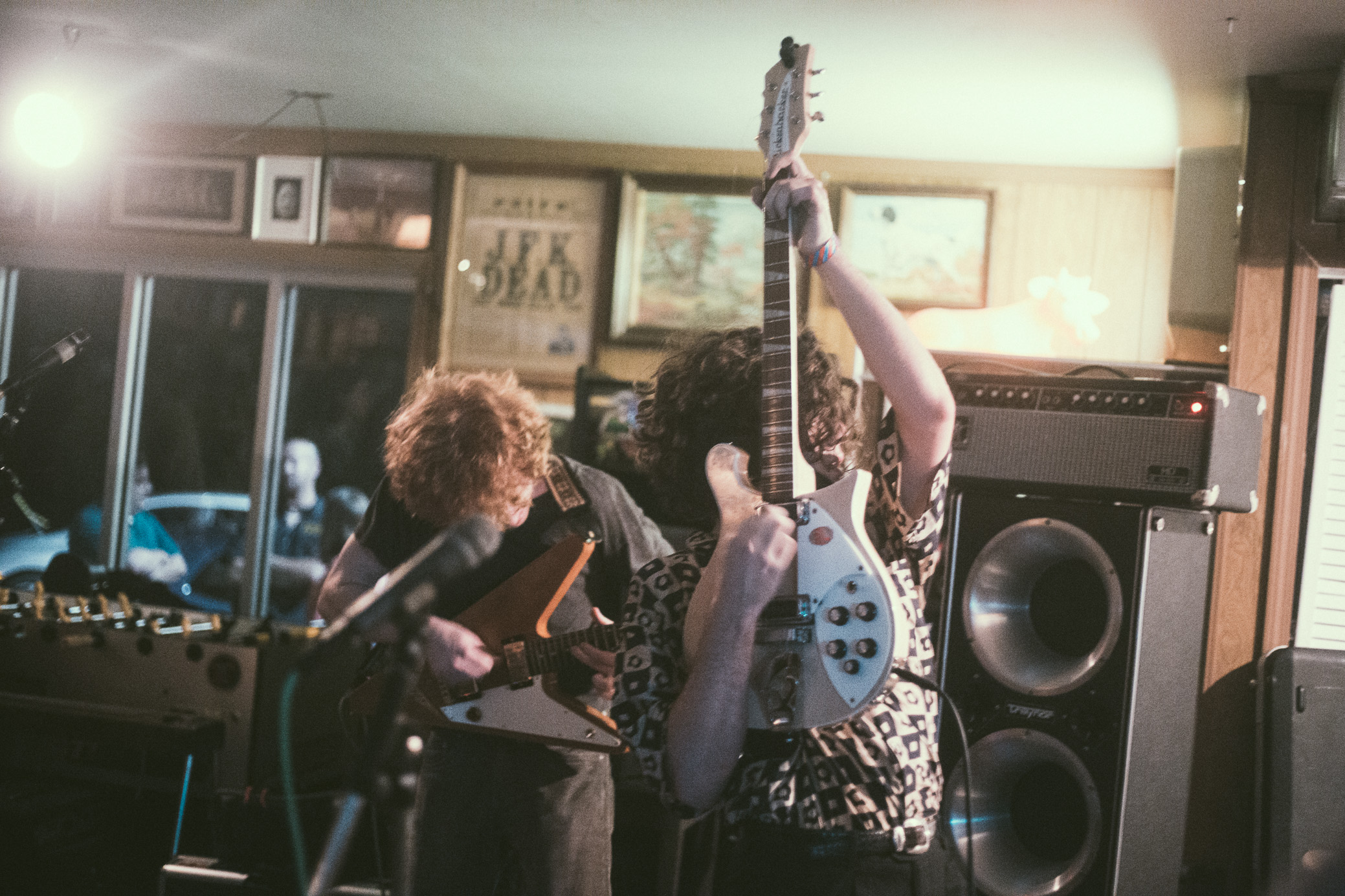 Telefones perform in concert at Mom's Basement in Birmingham, Alabama on May 22nd, 2018. (Photo by David A. Smith/DSmithScenes)