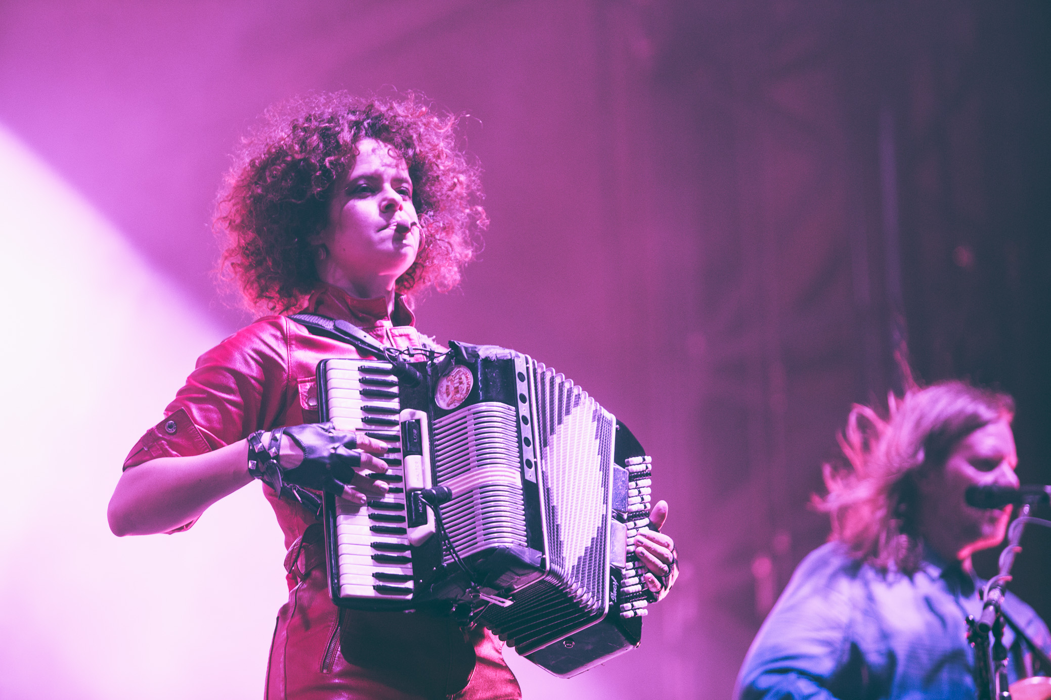Arcade Fire performs in concert at the Sloss Music and Arts Festival in Birmingham, Alabama on July 14th, 2018. (Photo by David A. Smith/DSmithScenes)