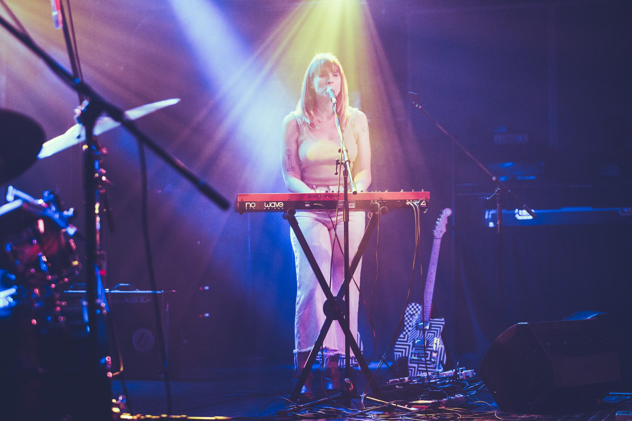 Wye Oak performs in concert at Saturn Birmingham in Birmingham, Alabama on July 28th, 2018. (Photo by David A. Smith/DSmithScenes)