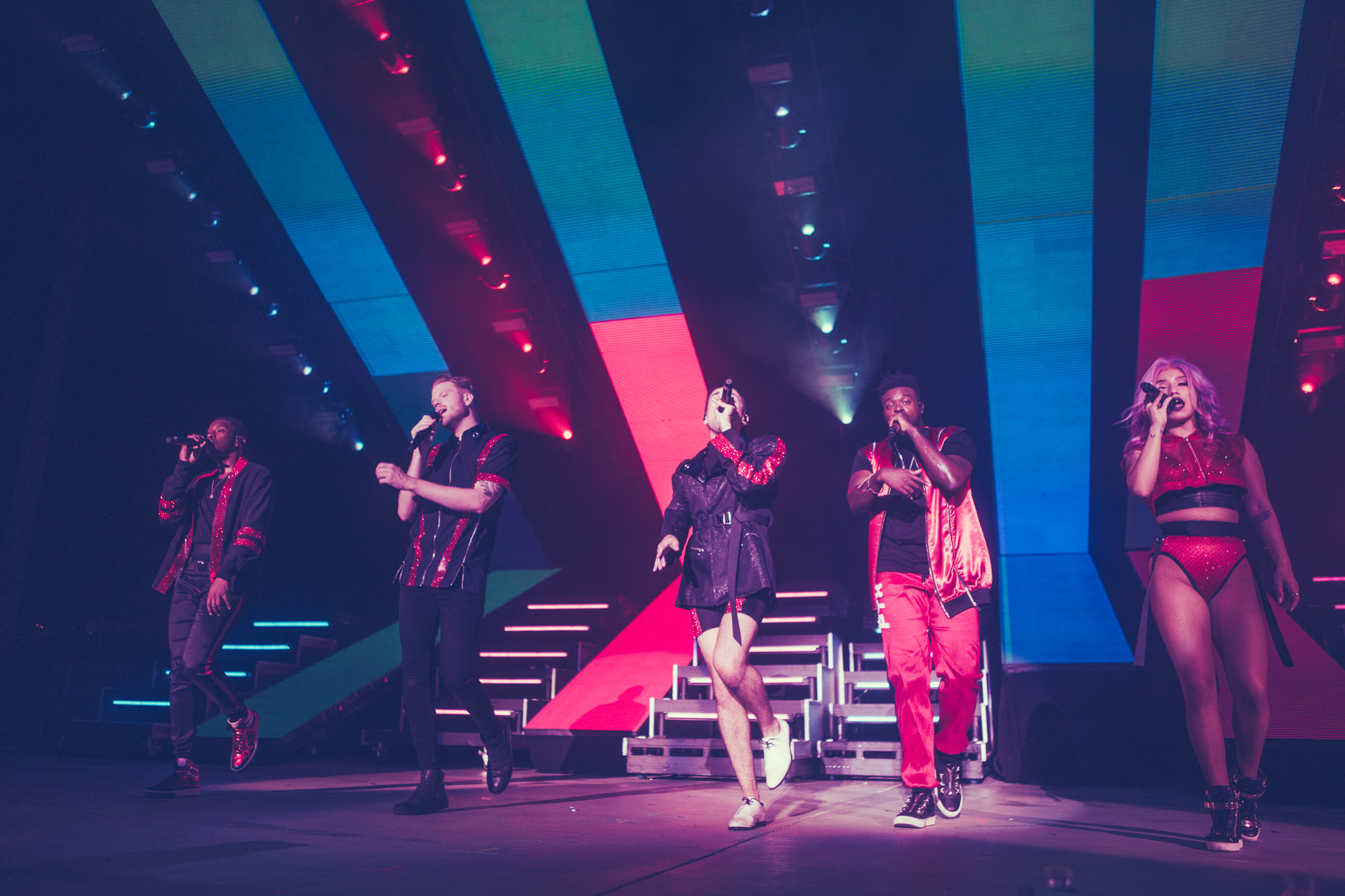 Pentatonix performs in concer at the Oak Mountain Amphitheatre in Pelham, Alabama on August 2nd, 2018. (Photo by David A. Smith/DSmithScenes)