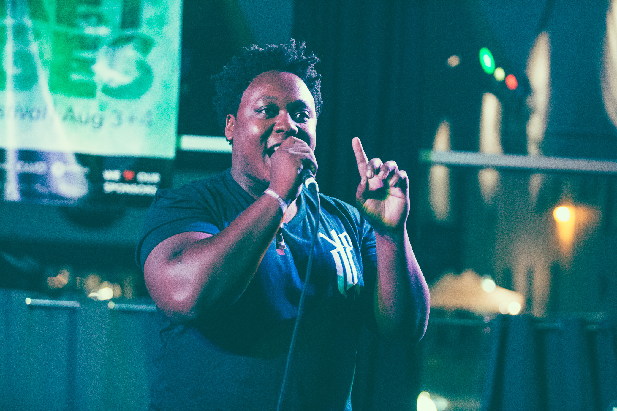 Kadesh Flow performs in concert at the Secret Stages Music Discovery Festival in Birmingham, Alabama on August 3rd, 2018. (Photo by David A. Smith/DSmithScenes)