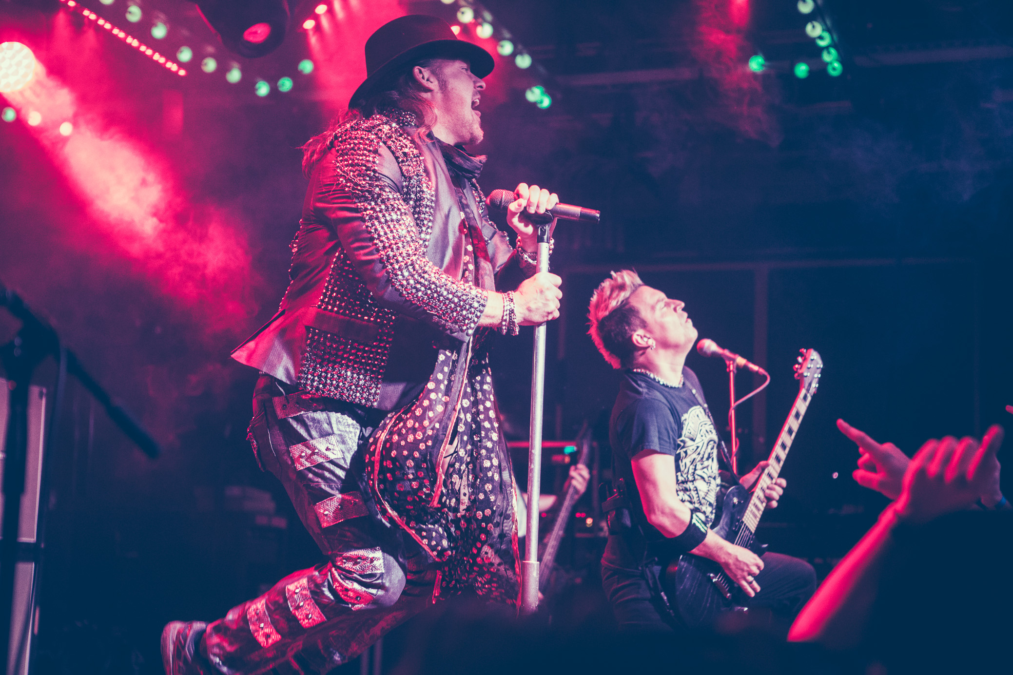 Chris Jericho and Billy Grey of Fozzy perform in concert at Saturn Birmingham in Birmingham, Alabama on August 25th, 2018. (Photo by David A. Smith/DSmithScenes)