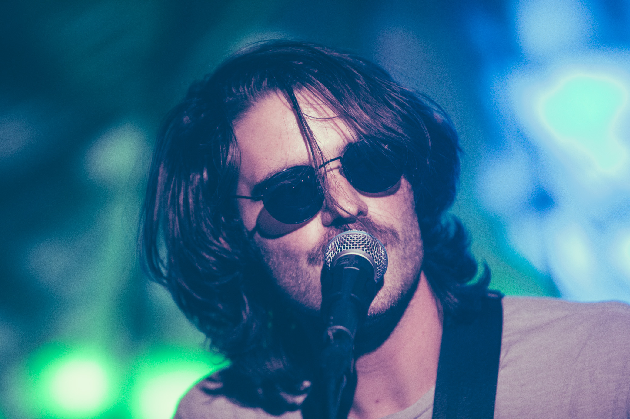 Jacob Ewald of Slaughter Beach, Dog performs in concert at Saturn Birmingham in Birmingham, Alabama on September 2nd, 2018. (Photo by David A. Smith/DSmithScenes)