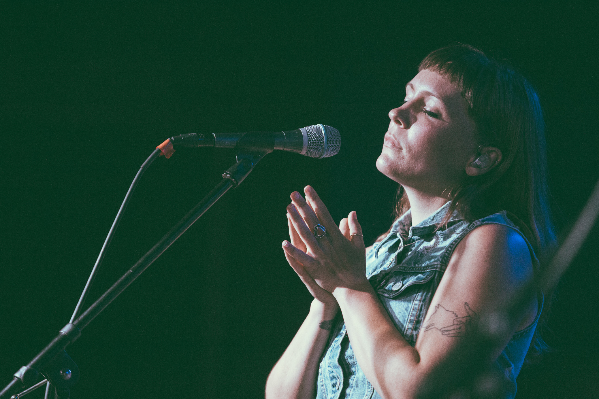 Allison Closner of Joseph performs in concert at Saturn Birmingham in Birmingham, Alabama on September 6th, 2018. (Photo by David A. Smith/DSmithScenes)