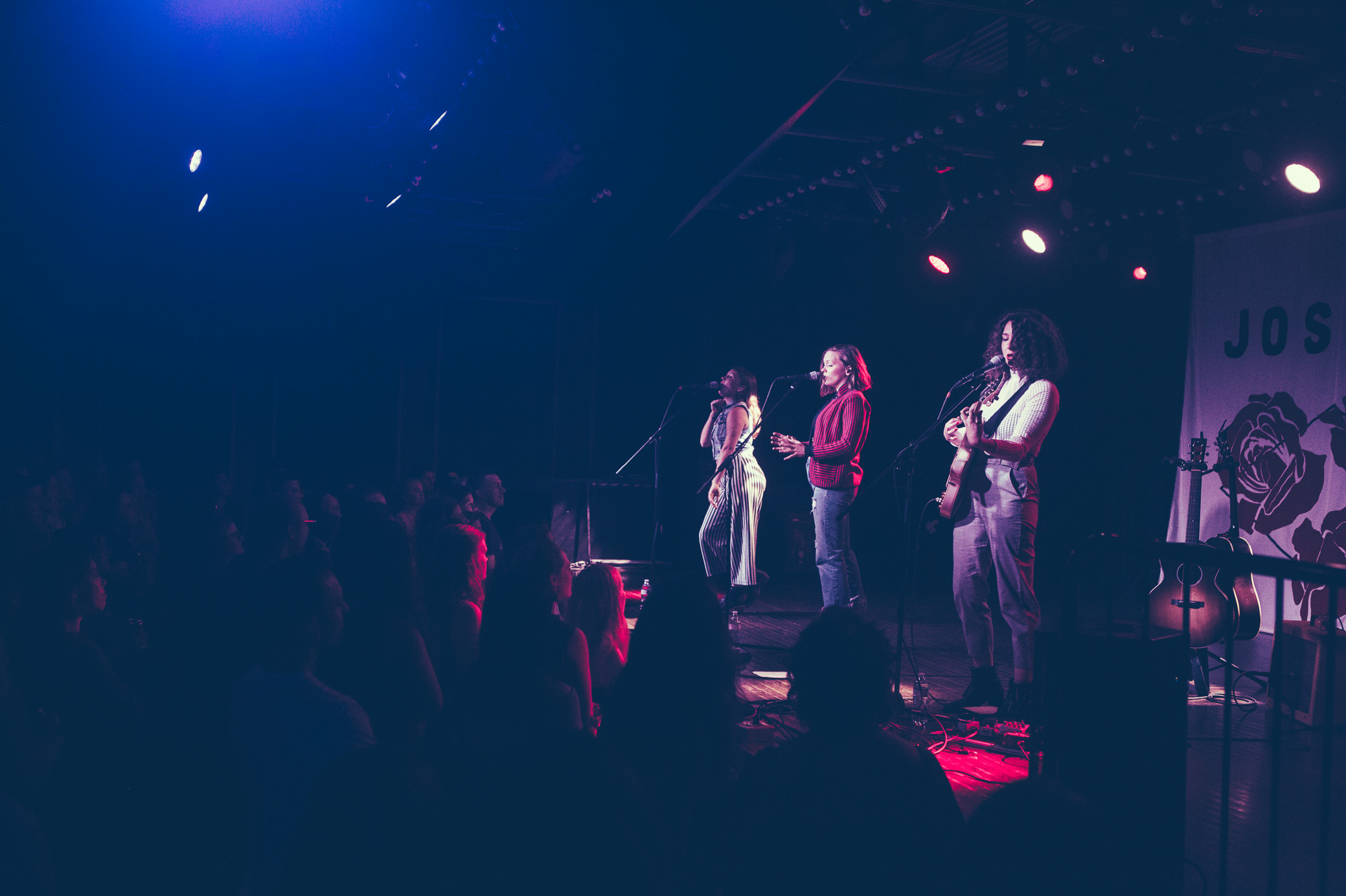 Allison, Meegan, and Natalie Closner of Joseph perform in concert at Saturn Birmingham in Birmingham, Alabama on September 6th, 2018. (Photo by David A. Smith/DSmithScenes)