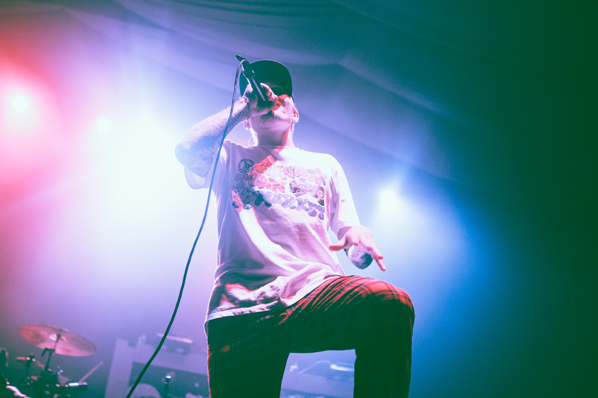 Ben Barlow of Neck Deep performs in concert at WorkPlay in Birmingham, Alabama on September 16th, 2018. (Photo by David A. Smith/DSmithScenes)