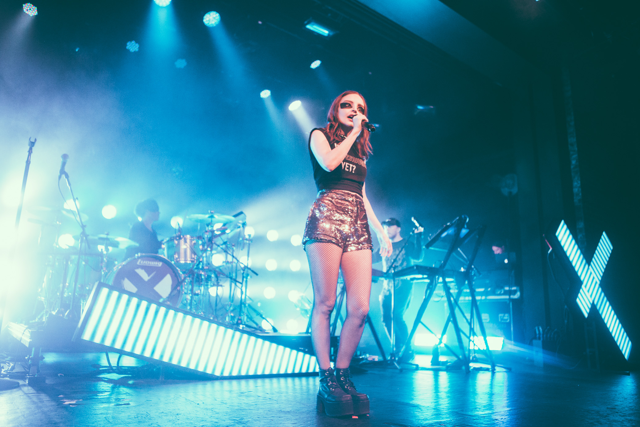 Lauren Mayberry of CHVRCHES performs in concert at Iron City in Birmingham, Alabama on October 8th, 2018. (Photo by David A. Smith / DSmithScenes)