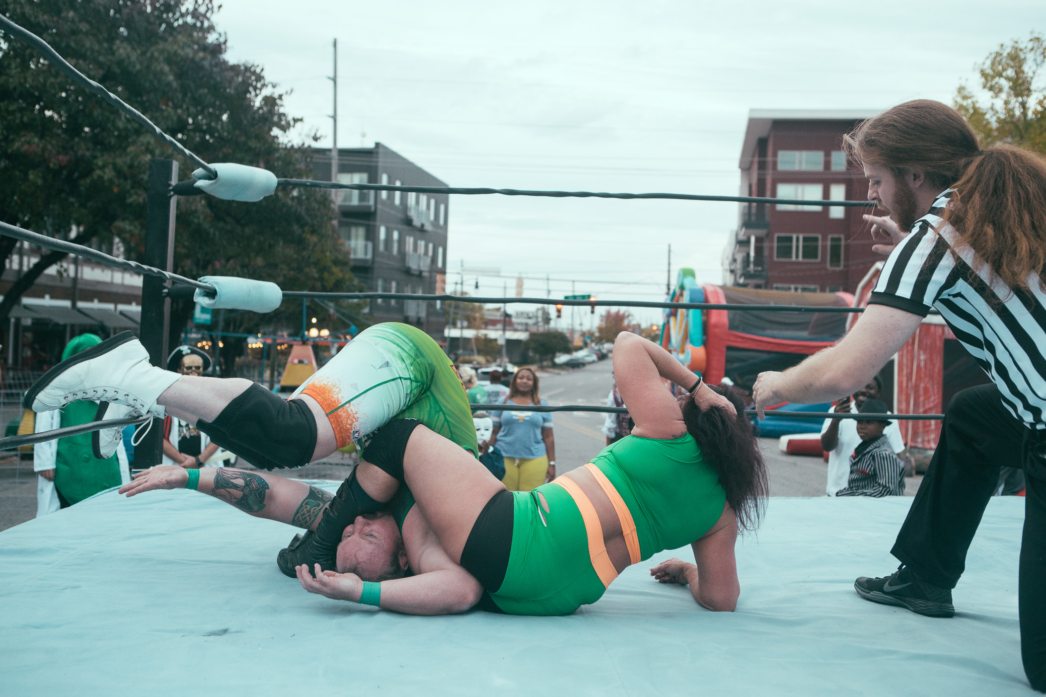 Revolutionary Independent Wrestling's show at the 3rd Annual Lakeview Spooktakular Halloween Carnival in Birmingham, Alabama on October 31st, 2018. (Photo by David A. Smith / DSmithScenes)