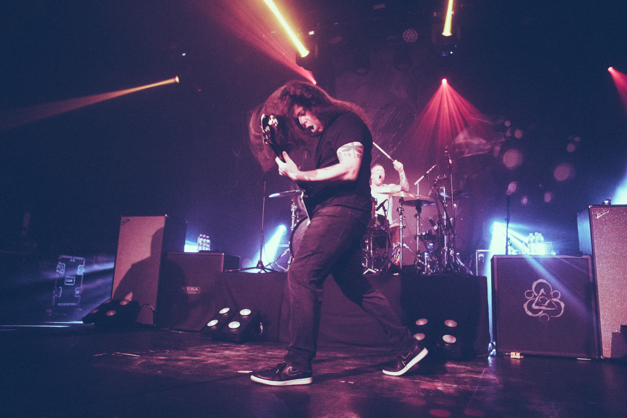 Claudio Sanchez of Coheed and Cambria performs in concert at Iron City in Birmingham, Alabama on November 14th, 2018. (Photo by David A. Smith / DSmithScenes)