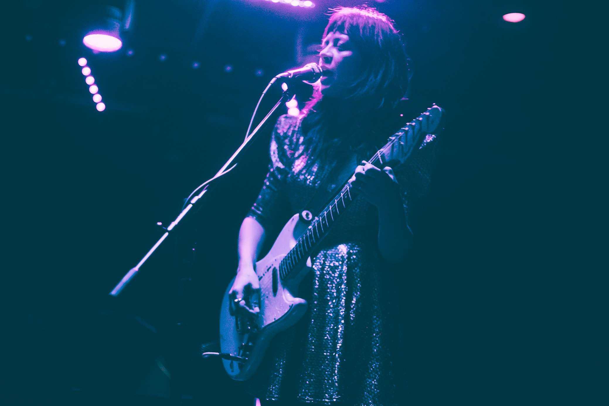 The Coathangers perform in concert at Saturn Birmingham in Birmingham, Alabama on April 4th, 2019. (Photo by David A. Smith / DSmithScenes)
