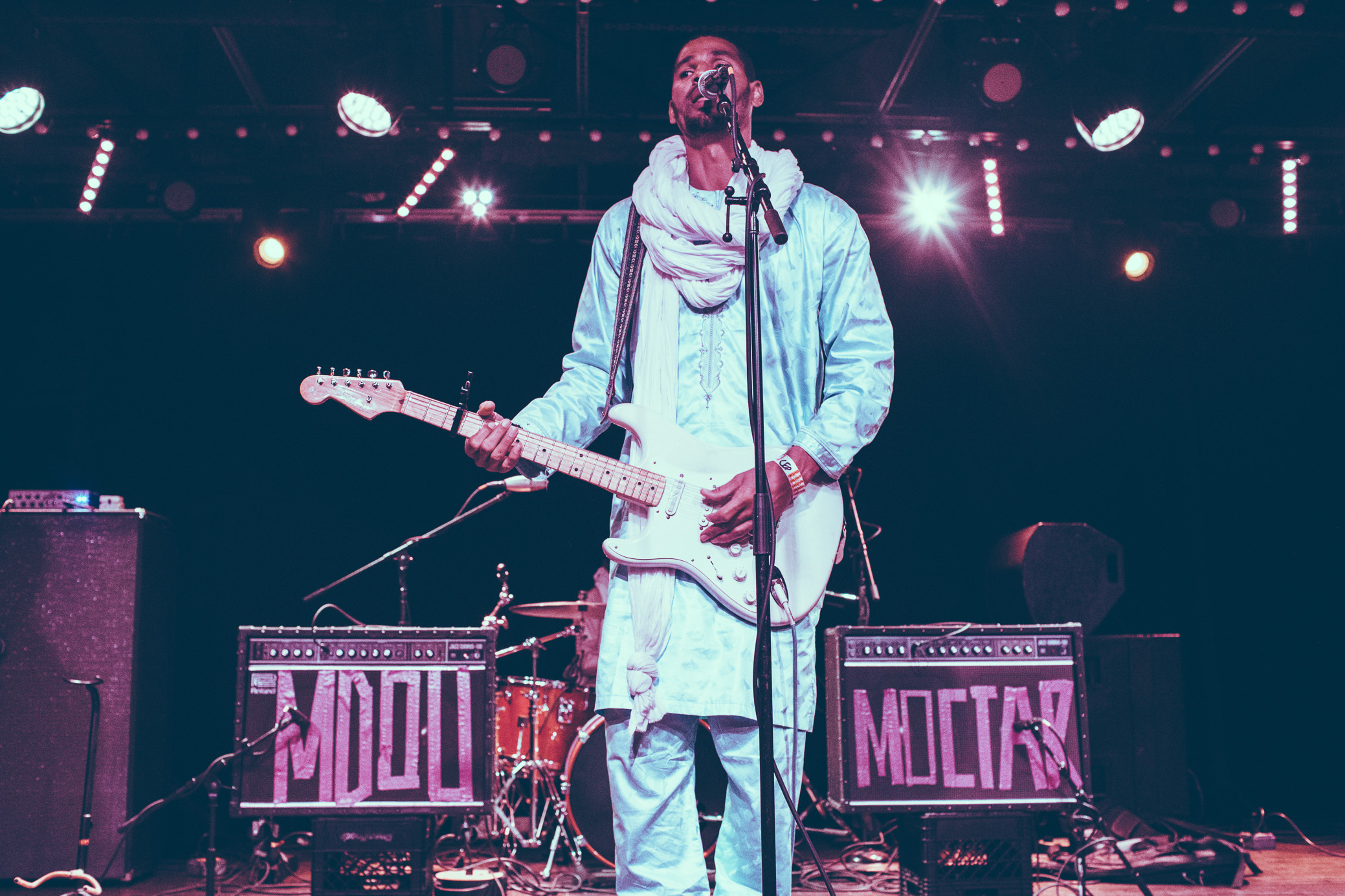 Mdou Moctar performs in concert at Saturn Birmingham in Birmingham, Alabama on April 30th, 2019. (Photo by David A. Smith / DSmithScenes)