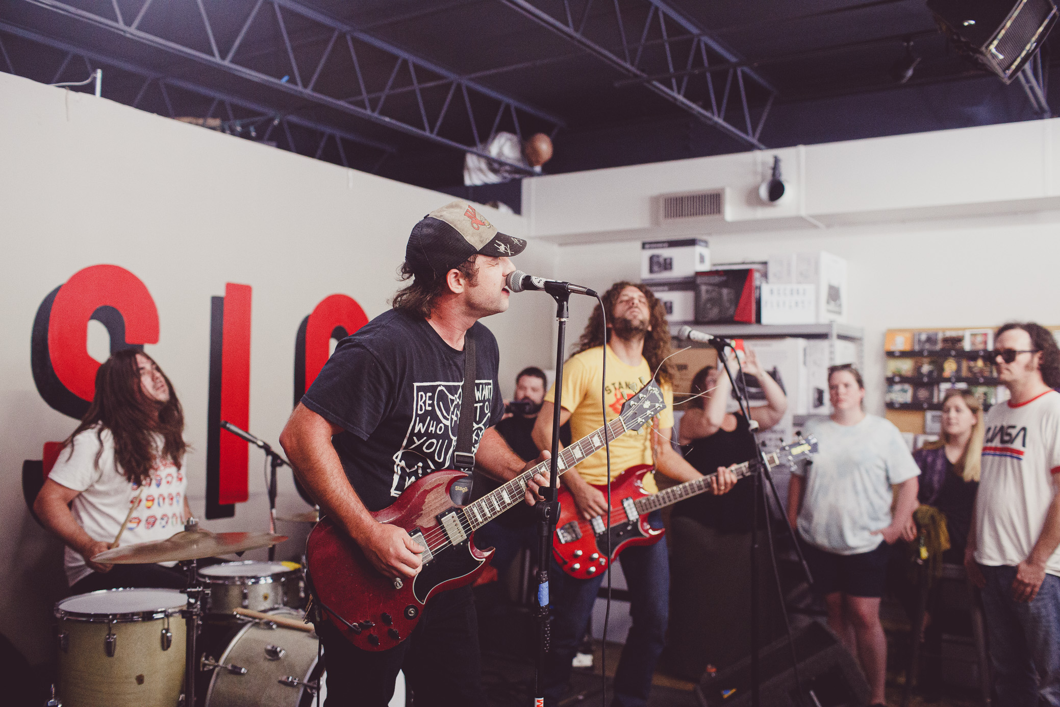 Lee Bains III & The Glory Fires perform at Seasick Records in Birmingham, Alabama on June 15th, 2019. (Photo by David A. Smith / DSmithScenes)