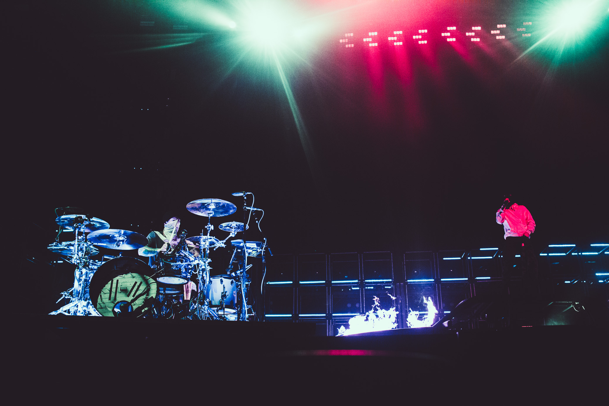 Twenty One Pilots performs at the Birmingham-Jefferson Civic Center Arena in Birmingham, Alabama on June 18th, 2019. (Photo by David A. Smith / DSmithScenes)