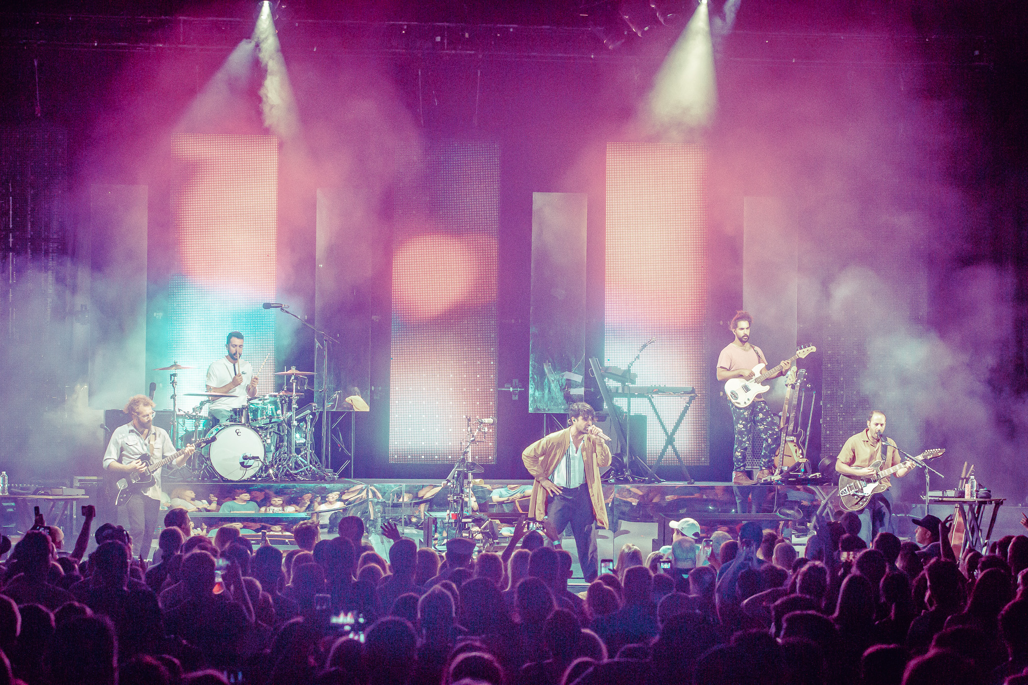 Young the Giant performs in concert at Cadence Bank Amphitheatre at Chastain Park in Atlanta, Georgia on July 14th, 2019. (Photo by David A. Smith / DSmithScenes)